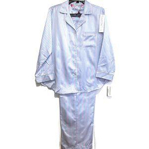 Miss Elaine Women's  Printed Satin Pajama Set- S